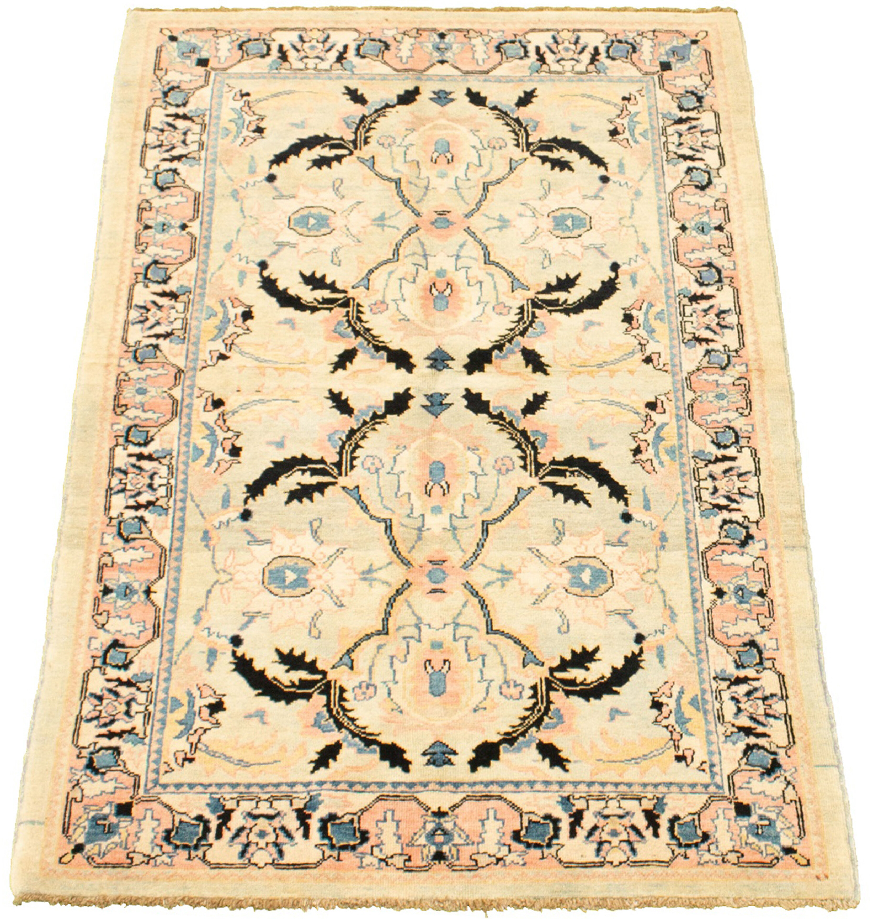Isabelline One Of A Kind Hadara Hand Knotted 2010s Chobi Beige Khaki 4 4 X 5 10 Wool Area Rug Wayfair