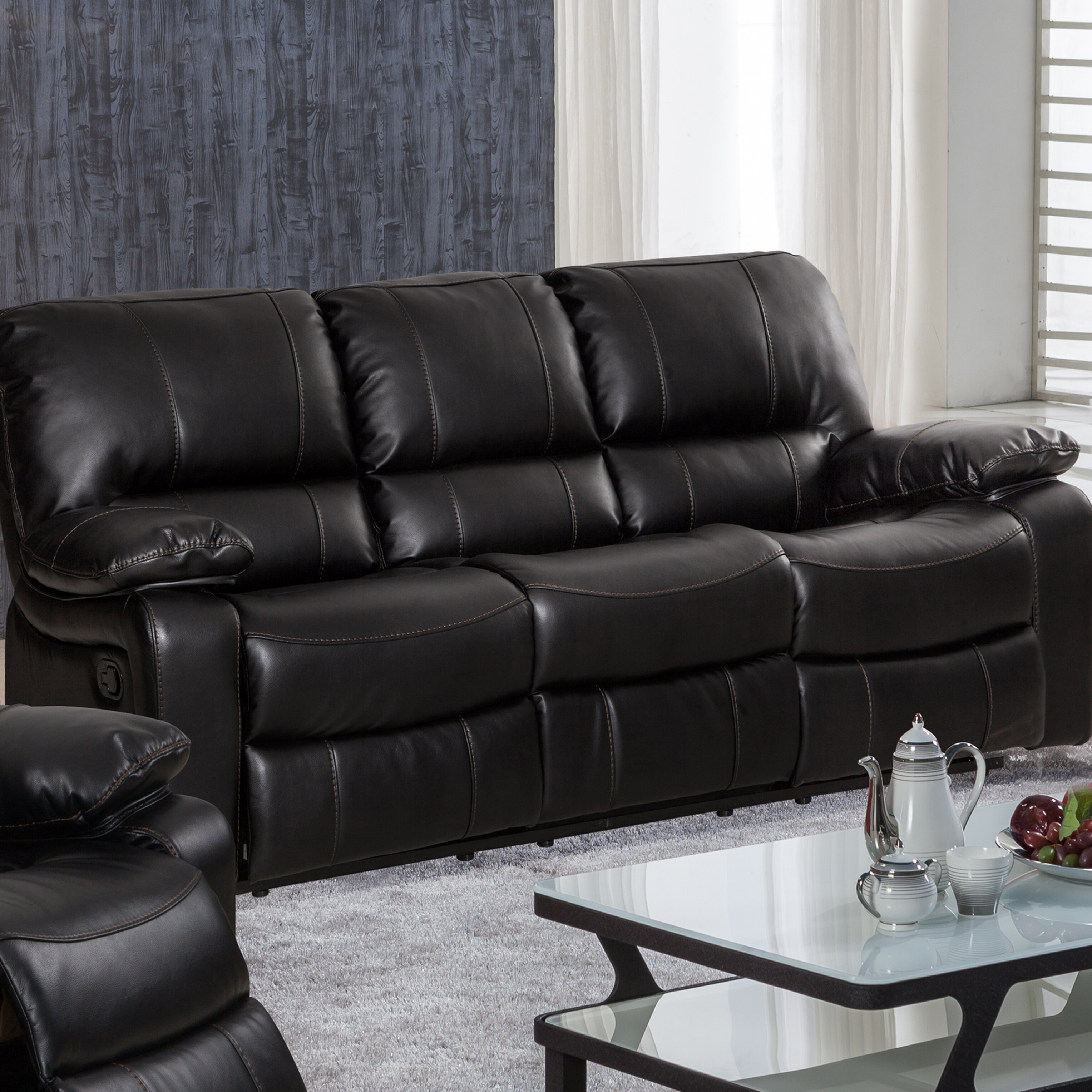 room piece sectional black for abbyson living complaints london cosco leather luxury furniture elegant grey decor design