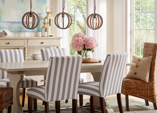Not Ready To Fully Commit Start Small Simply Swap The Seating At Head And Foot Of Your Table For A Slightly Different Set Think Chairs With