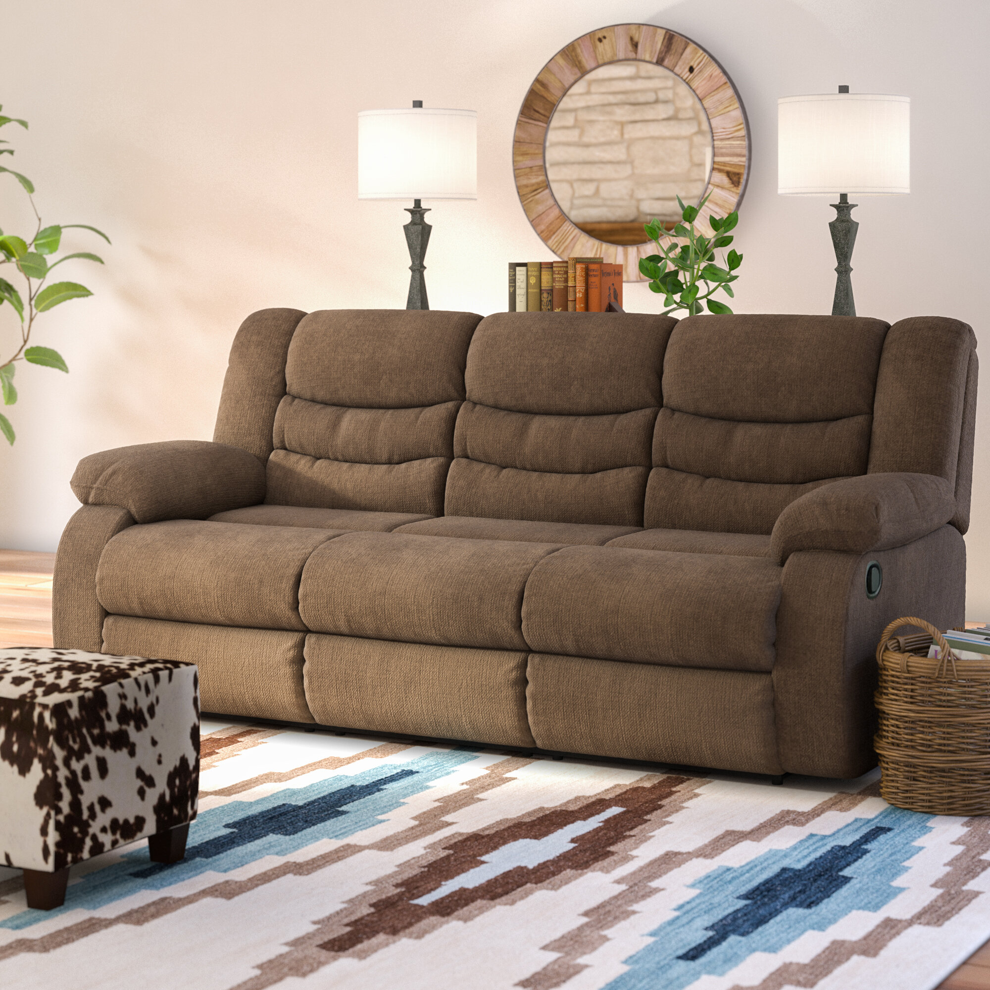 Reclining Living Room Furniture.  Loon Peak Ridgemont Reclining Sofa Reviews Wayfair