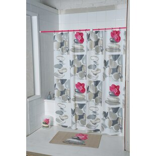 Spa Printed Single Shower Curtain