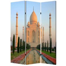 72 x 48 Taj Mahan 3 Panel Room Divider by Screen Gems