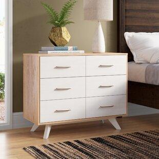 Montanez Mid Century Wood 6 Drawer Double Dresser by Trule Teen
