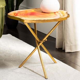 Newsoms Faux Agate End Table