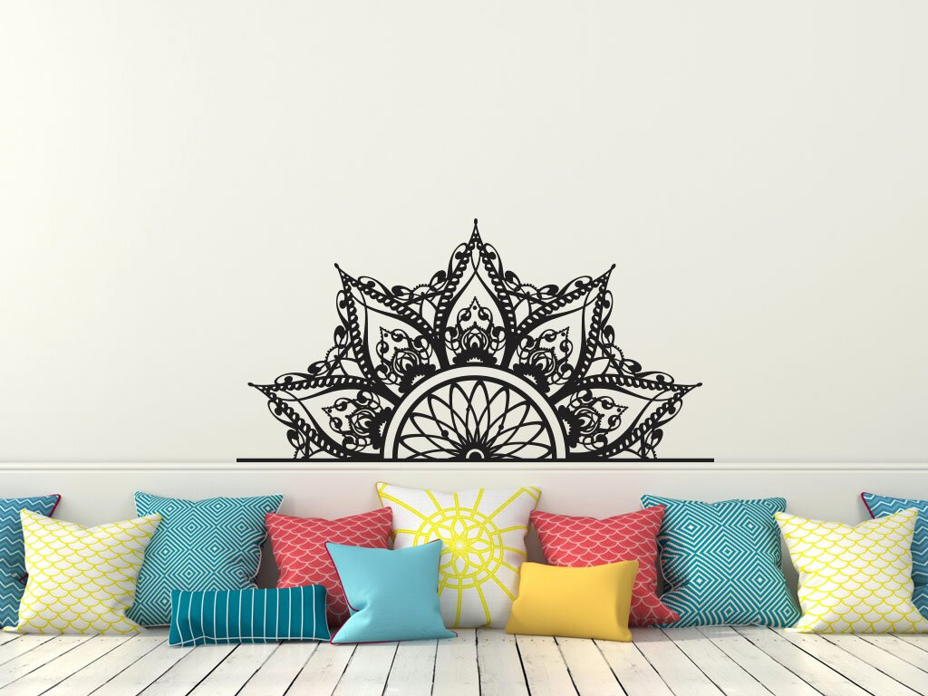 Mandala Headboard Wall Decal
