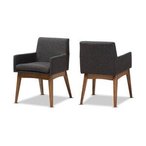 stallman midcentury modern upholstered dining chair set of 2