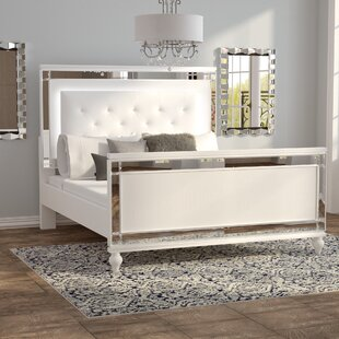 Rivage LED Upholstered Panel Bed