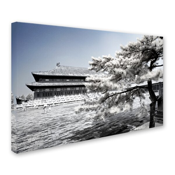 Trademark Art White Plaza By Philippe Hugonnard Photographic Print On Wrapped Canvas Wayfair