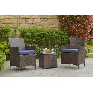 Almus 3 Piece Conversation Set with Cushions by Zipcode Design