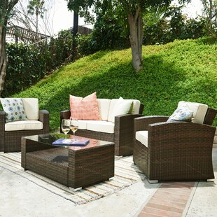 Bahia 4 Piece Sofa Set with Cushions