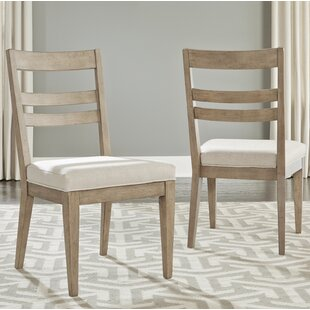 Amina Contemporary Slat Back Upholstered Dining Chair (Set of 2) One Allium Way