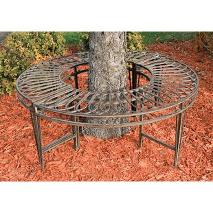 Gothic Roundabout Steel Garden Bench by Design Toscano No Copoun