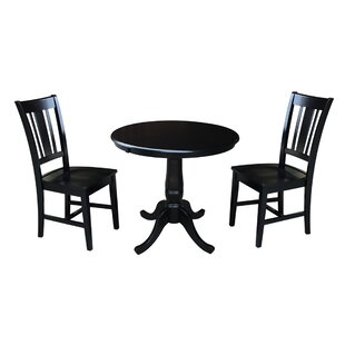 Politte 3 Piece Extendable Solid Wood Dining Set by Charlton Home Best #1