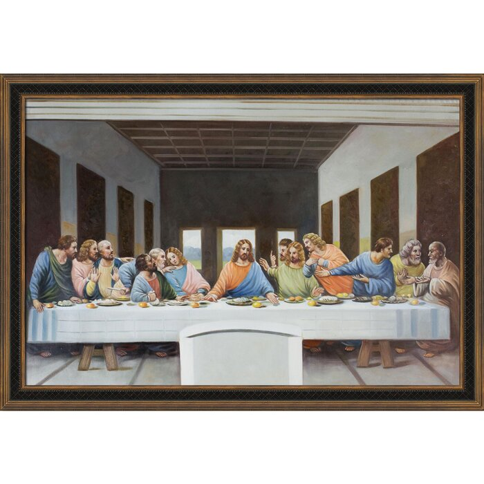 Tori Home The Last Supper By Leonardo Da Vinci Framed Painting Print