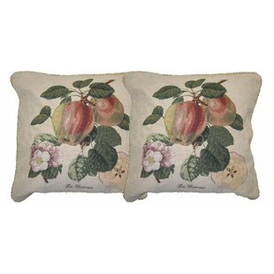 Splendor of Apple Woven Decorative Pillow Cover (Set of 2)