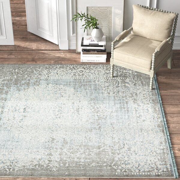 Kelly Clarkson Home Coeur Power Loom Gray Light Blue Ivory Area Rug Reviews Wayfair