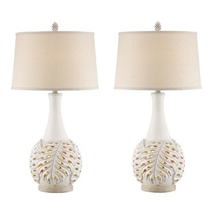 Affordable Marnie Leaf 33 Table Lamp (Set of 2) By Highland Dunes
