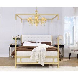 Matthew Queen Upholstered Canopy Bed by Everly Quinn