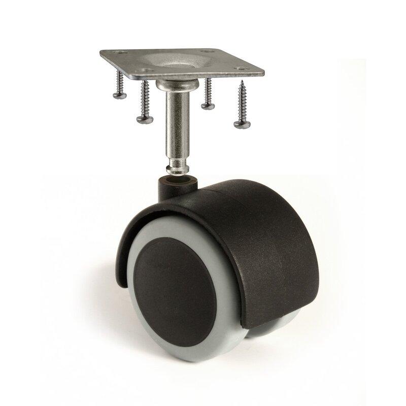 "Slipstick CB681 2/"" Floor Protector Rubber Caster Wheels Set Of 4 5//16/"" Stem Or T"