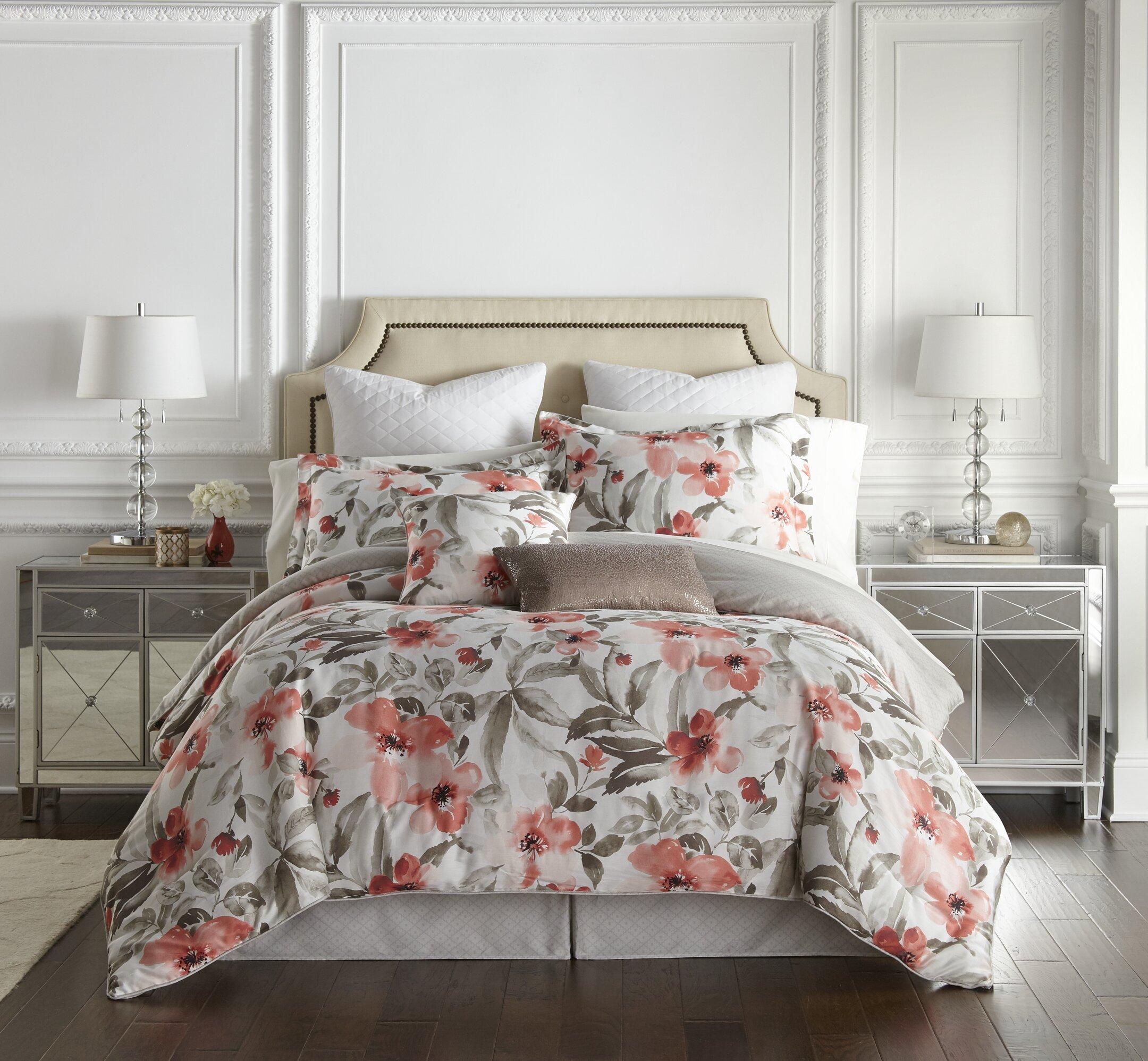 Kathy Ireland Home Orange Pima Cotton 300 Tc 8 Piece Comforter Set Wayfair