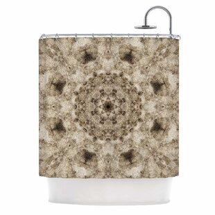 'Sandy Beach Mandala' Single Shower Curtain