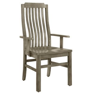 Rader Vertical Solid Wood Dining Chair (Set Of 2) Best Design