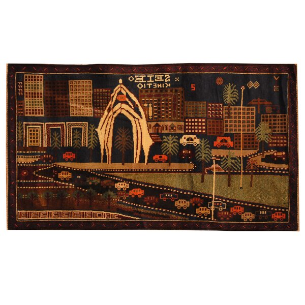 Bloomsbury Market One Of A Kind Ebron Hand Knotted 2 9 X 4 10 Wool Navy Red Area Rug Wayfair