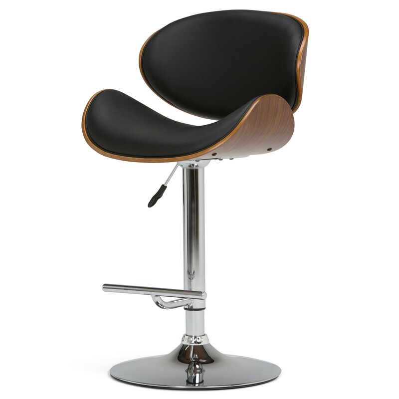Wondrous Shoptagr Black Harbison Adjustable Height Swivel Bar Stool Pabps2019 Chair Design Images Pabps2019Com