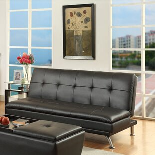 Luper Leatherette Adjustable Convertible Sofa by Latitude Run