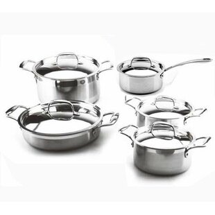 Leisure Man 3-Ply 10 Piece Cookware Set