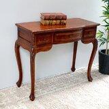Keiper Hand Carved Wood Indoor Vanity Desk