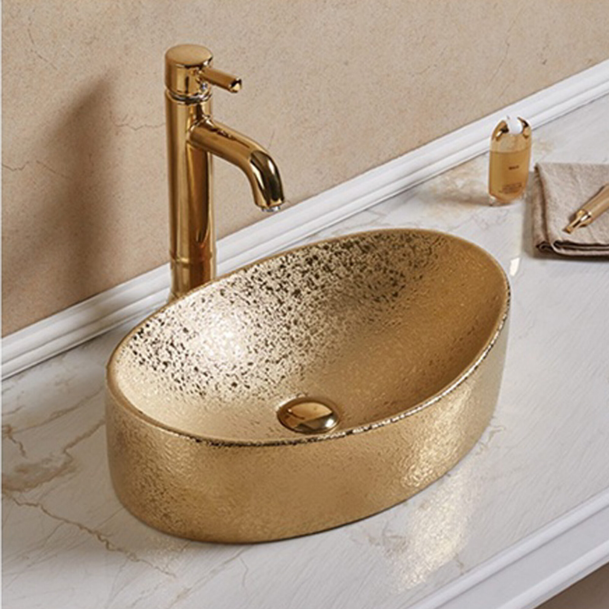 Avanities Ceramic Oval Vessel Bathroom Sink Wayfair