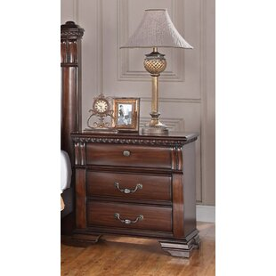 Read Reviews 3 Drawer Nightstand by LYKE Home