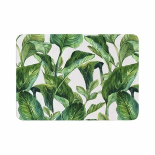 Banana Leaves Memory Foam Bath Rug