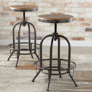 Goethe Adjustable Height Swivel Bar Stool (Set of 2) by Trent Austin Design