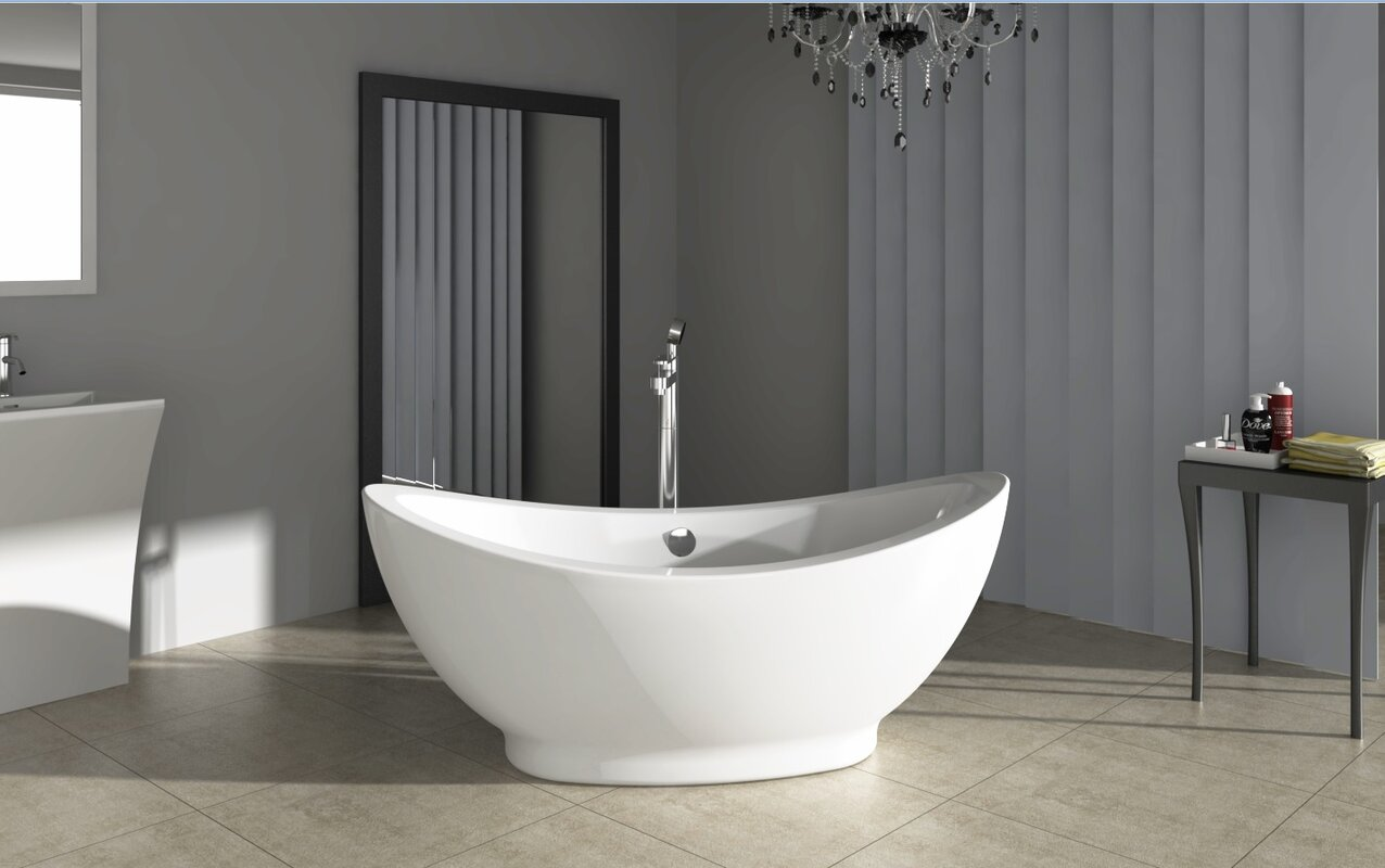 Different bathtub styles complete different types of for Best freestanding tub material
