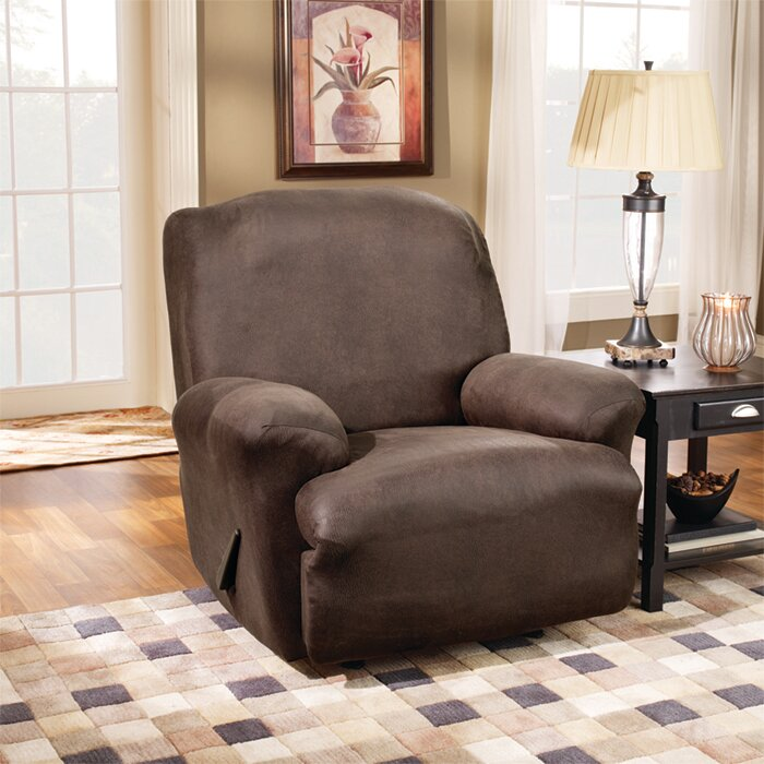 Superb Stretch Leather T Cushion Recliner Slipcover
