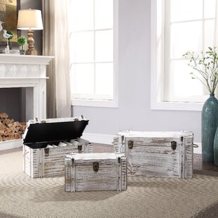 DeKalb 3 Piece Trunk Set by Highland Dunes