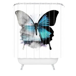 Price comparison Emanuela Carratoni The Butterfly Shower Curtain ByEast Urban Home