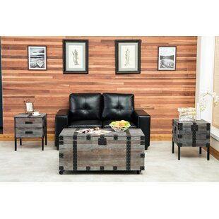 Rigina 3 Piece Coffee Table Set by 17 Stories