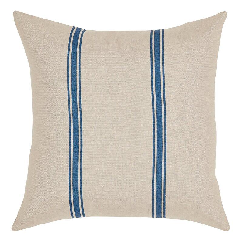 Grainsack Stripe Throw Pillow #FrenchFarmhouse #GrainsackPillow