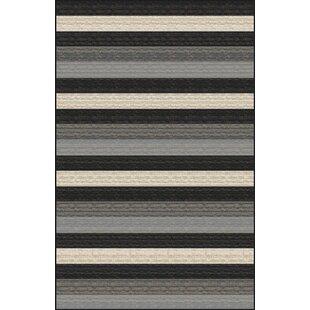 Reviews Mcgehee Striped Black/Gray Area Rug ByOrren Ellis