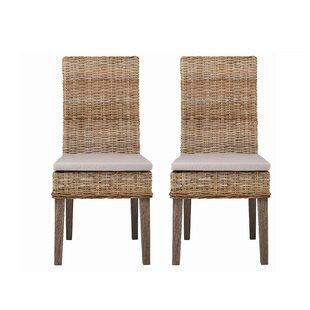 Delacruz Side Chair in Medium Brown Set of 2 by Longshore Tides