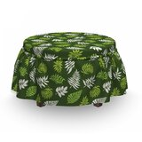 Palm Jungle Leafage on Ottoman Slipcover (Set of 2) by East Urban Home