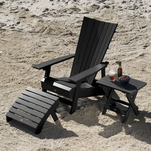 Deutsch Plastic Adirondack Chair with Table and Ottoman