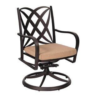 Apollo Swivel Rocker Patio Dining Chair by Woodard