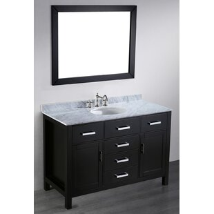 Teixeira 49 Single Bathroom Vanity Set with Mirror By Brayden Studio