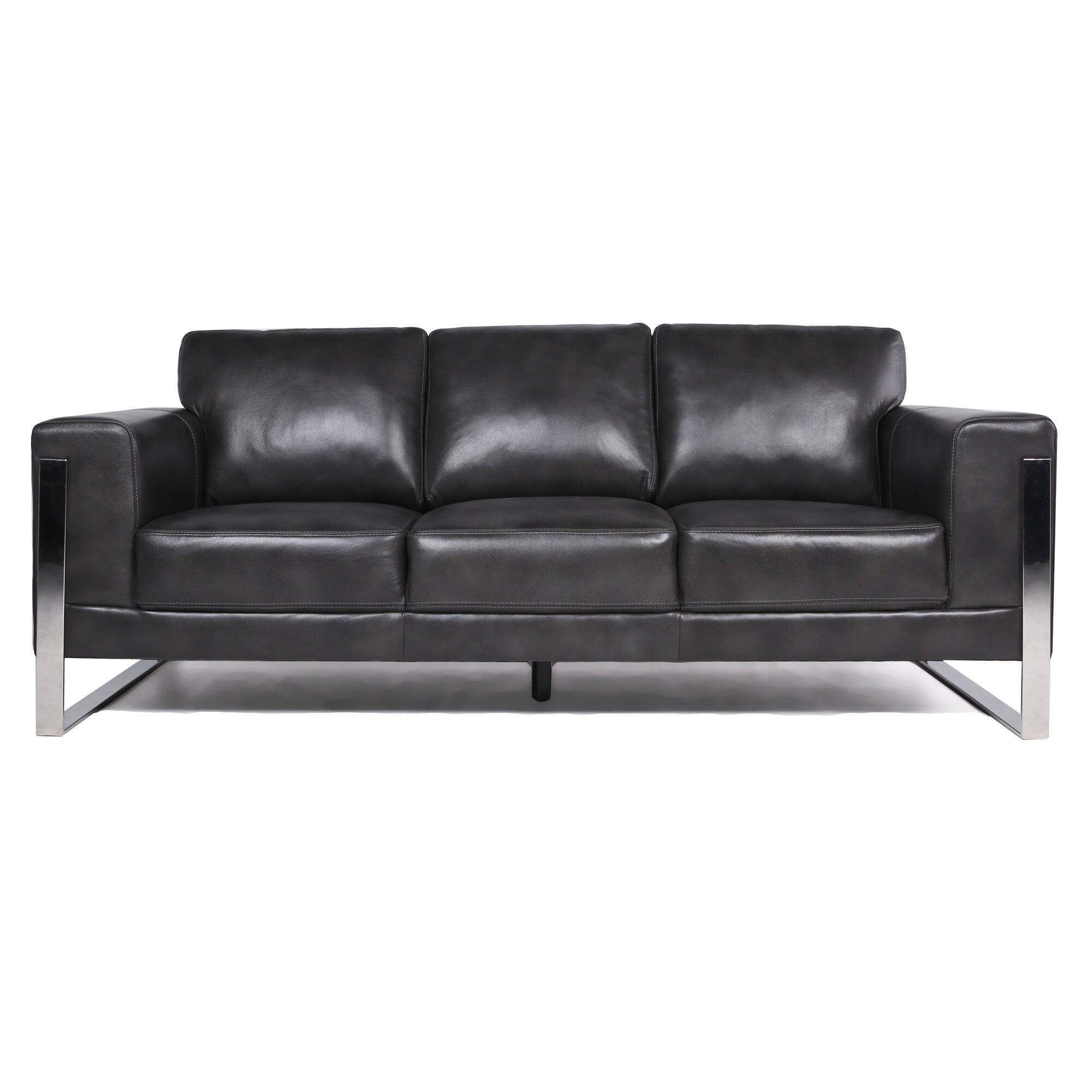 Olivarez Leather Sofa