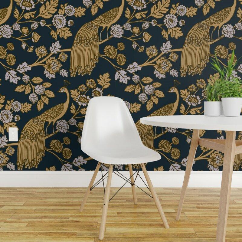Tseng Chinoiserie Removable Peel And Stick Wallpaper Panel Joss Main