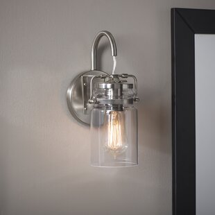 Affordable Sue 1-Light Armed Sconce By Greyleigh